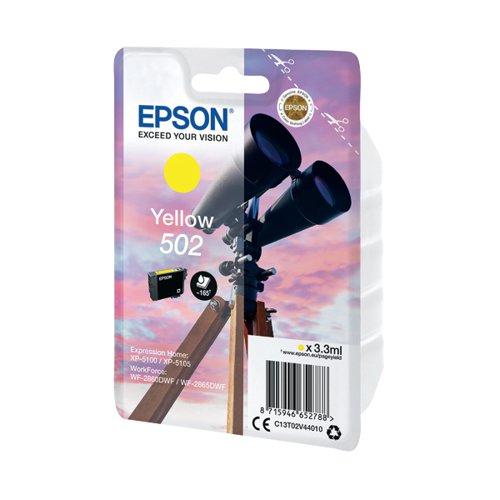 Epson Singlepack 502 Ink Yellow C13T02V44010