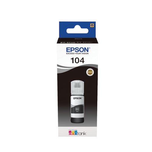 104 EcoTank Black Ink Bottle C13T00P140