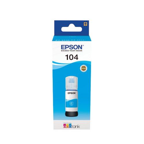 104 EcoTank Cyan Ink Bottle C13T00P240