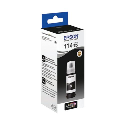 Epson 114 Ecotank Pigment Black Ink Bottle C13T07A140