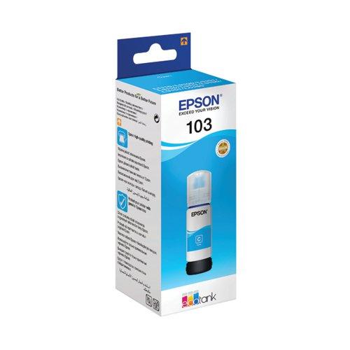 Epson 103 EcoTank Cyan Ink Bottle WE C13T00S24A10