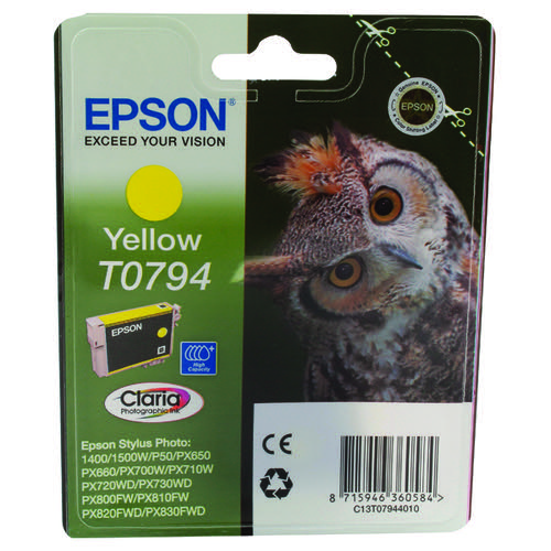 Epson T0794 Yellow Inkjet Cartridge C13T07944010 / T0794