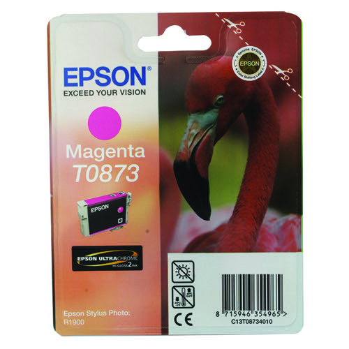 Epson T0873 Magenta Inkjet Cartridge C13T08734010 / T0873