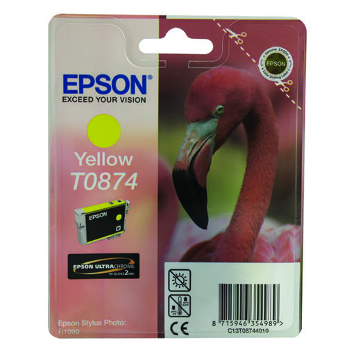 Epson T0874 Yellow Inkjet Cartridge C13T08744010 / T0874