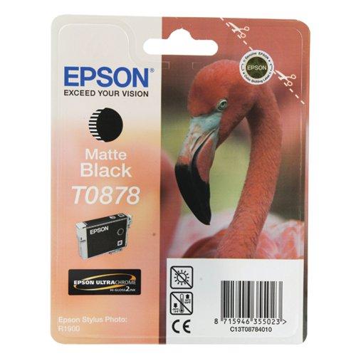 Epson T0878 Matte Black Inkjet Cartridge C13T08784010 / T0878