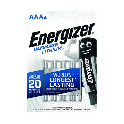 Energizer AAA Ultimate Lithium Batteries (Pack of 4) 632965