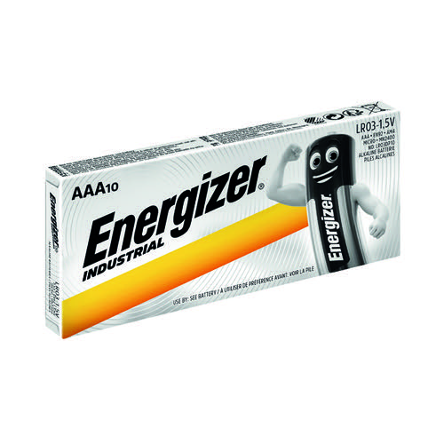 Energizer Industrial AAA Batteries (Pack of 10) 636106