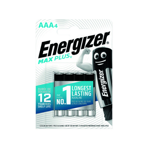 Energizer Max Plus AAA Batteries (Pack of 4) E301321400