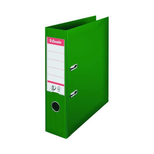 Esselte No 1 Lever Arch File Slotted 75mm A4 Green (Pack of 10) 811360