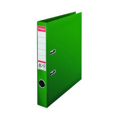 Esselte No 1 Plastic Lever Arch File 50mm A4 Green (Pack of 10) 811460