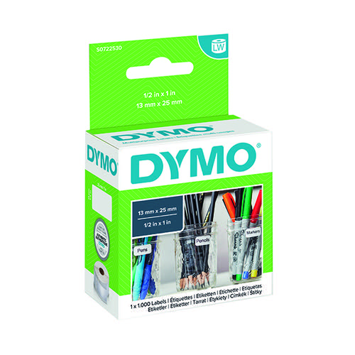 Dymo 11353 LabelWriter White 12 x 24mm Labels (Pack of 1000) S0722530