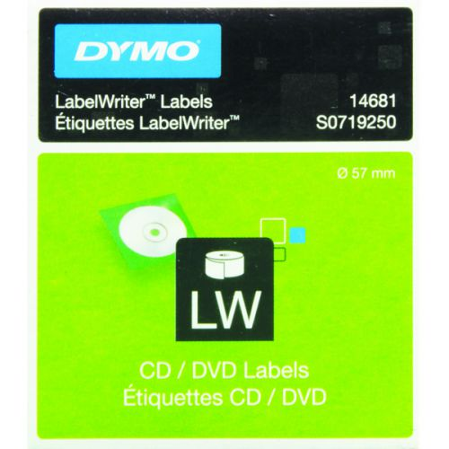 Dymo CD/DVD Label White 14681 S0719250