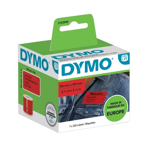 Dymo LabelWriter Shipping labels 54mmx101mm Red (Pack of 220) 2133399