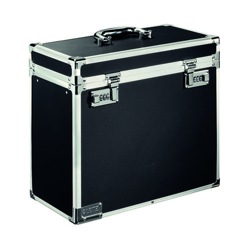 Leitz Mobile Filing Lockable Case A4 Chrome/Black 67160095 ES36481