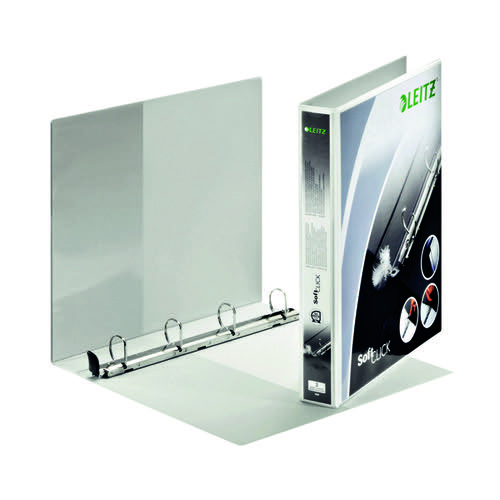 Leitz Panorama 4-Ring Presentation Binder 25mm White 42010-00-1