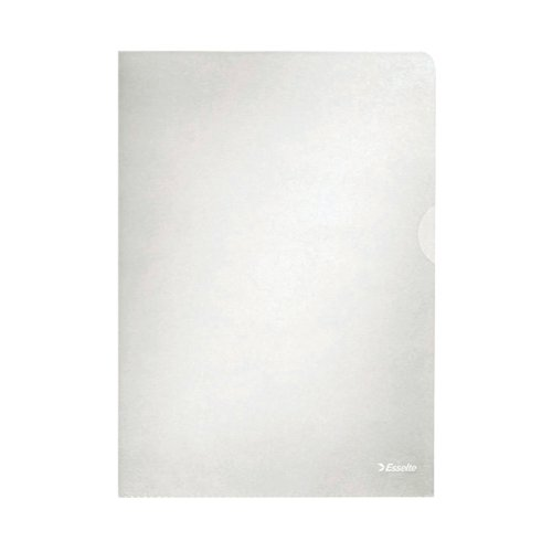 Esselte Embossed Folders A4 Clear (Pack of 100) 54832