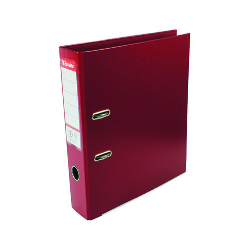 Esselte 75mm Lever Arch File Polypropylene A4 Burgundy (Pack of 10) 48069