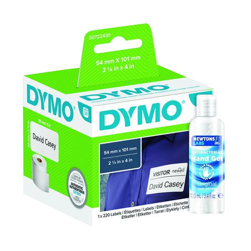 Dymo Shipping & Name Labels 54x101mm (S0722430) FOC Hand Gel ES810777
