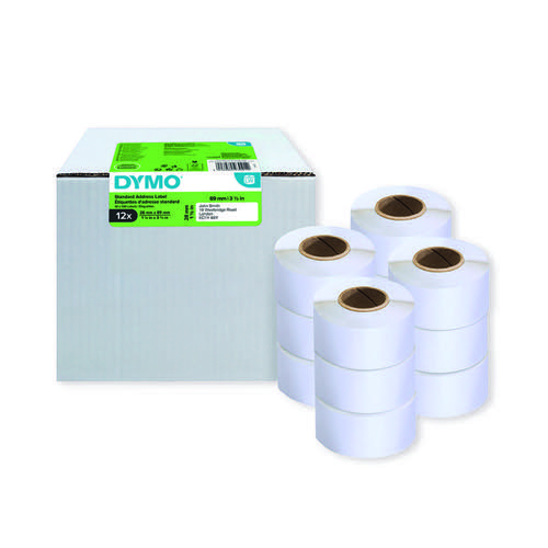 Dymo LabelWriter Standard Address Label 28mmx89mm (Pack of 12) 2093091
