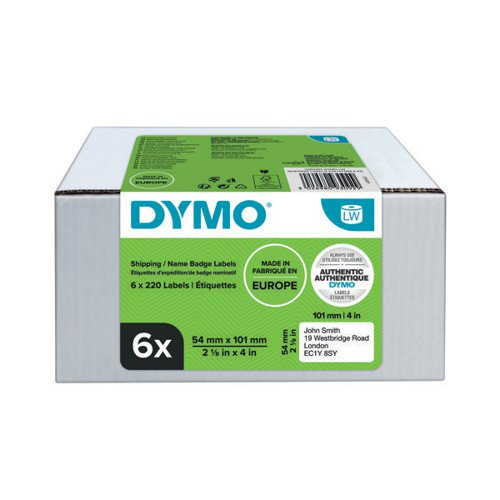 Dymo LabelWriter Shipping Labels 54mmx101mm (Pack of 6) 2093092