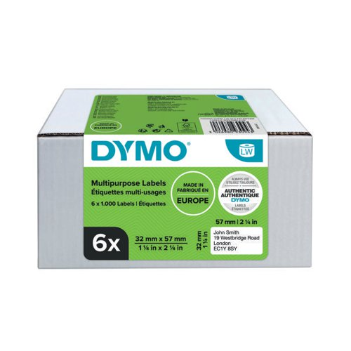 Dymo LabelWriter Multipurpose Labels 32mmx57mm (Pack of 6) 2093094