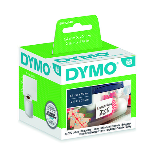 Dymo Labelwriter Labels 3.5 inch Diskette 54x70mm 99015 S0722440 [Pack 320]