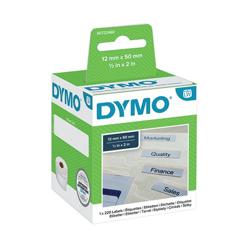 Dymo 99017 LabelWriter Suspension File Labels 50mm x 12mm S0722460 Label Tapes ES99017