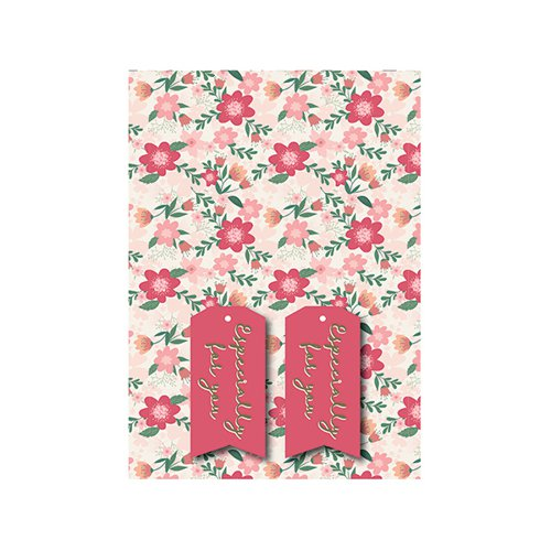 Pink Floral Gift Wrap and Tags (Pack of 12) 27243-2S2T