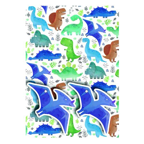 Dinosaurs Gift Wrap and Tags (Pack of 12) 27234-2S2T