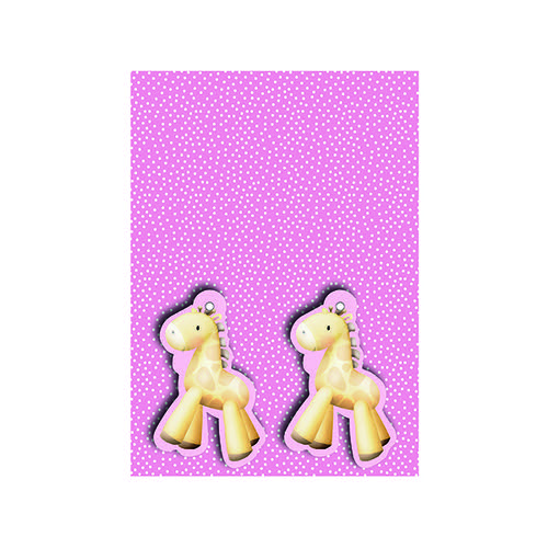 Pink Baby Giraffe Gift Wrap and Tags (Pack of 12) 27231-2S2T