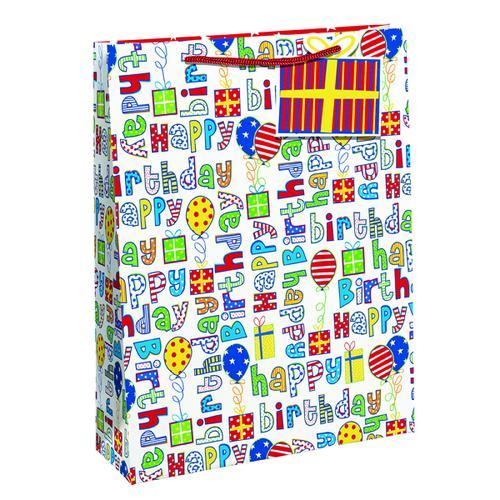 Happy Birthday Gift Bag Medium (Pack of 6) 26955-3