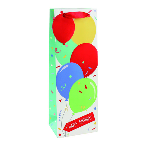 Happy Birthday Balloon Bottle Bag (Pack of 6) 26952-4