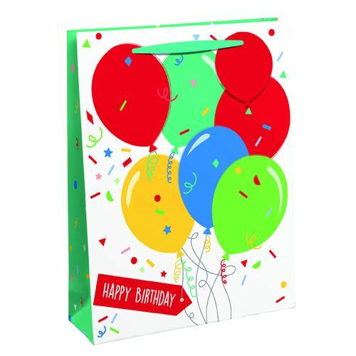 Happy Birthday Balloon Gift Bag Medium (Pack of 6) 26952-3