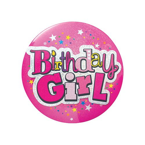 Birthday Girl Giant Badge (Pack of 6) 20880-BG-A