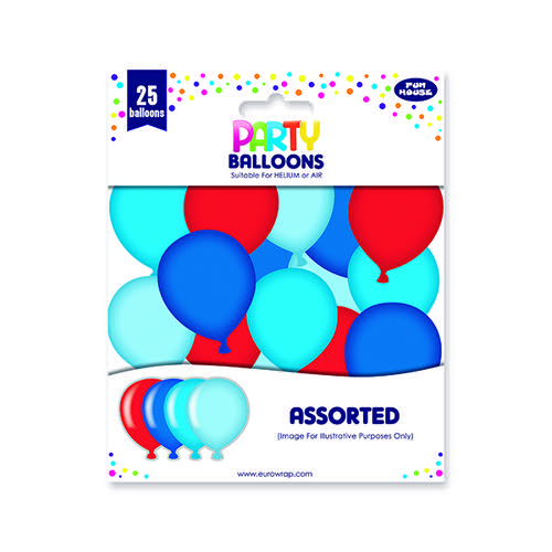 Party Balloons Blue/Red (Pack of 6) 12924-B-1