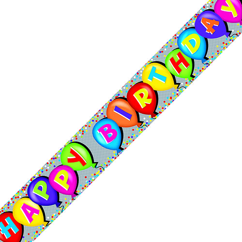 Holographic Happy Birthday Balloon Banner (Pack of 6) 6837-HBH-4