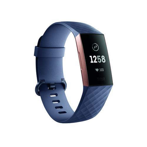 Fitbit Charge 3 Blue Grey/Rose-Gold Aluminium FB409RGGY-EU