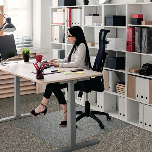 Floortex Rectangular Chair Mat Carpet 1200x900x2.3mm Polycarbonate 118923ER