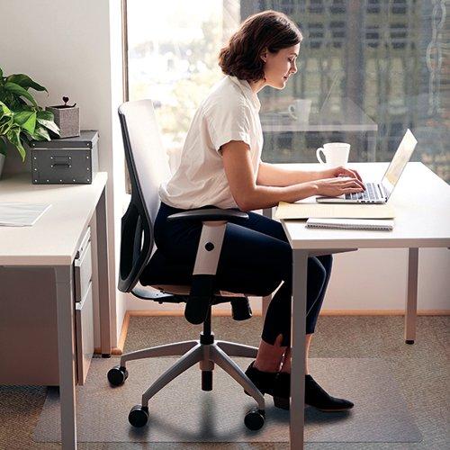 Floortex Cleartex Chair Mat Carpet 1200x750x2mm Clear FL74288
