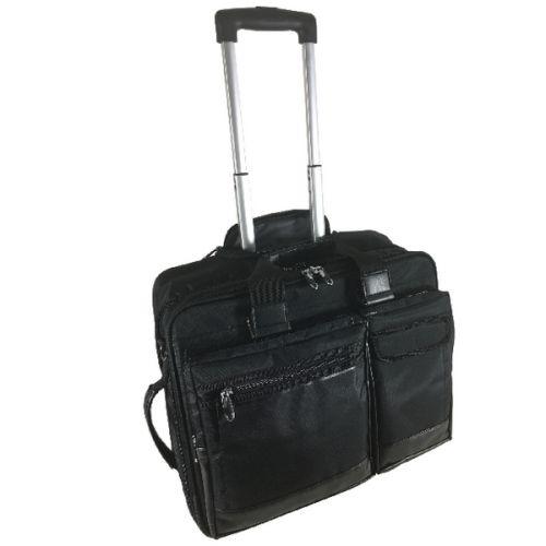 Falcon Mobile Laptop Trolley Case 15.6 Inch Black 2563