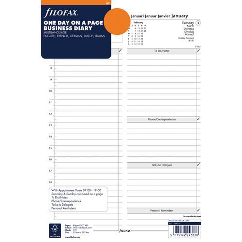 Filofax Refill A4 Day Per Page 2020 20-68719