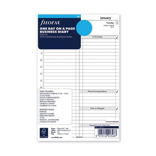 Filofax Refill Day Per Page A5 2022 22-68519