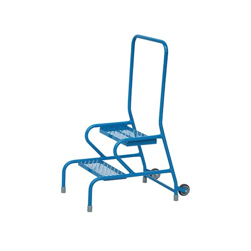 Fort Stable Steps 2 Step With Handrail and Wheels Painted GS3112M