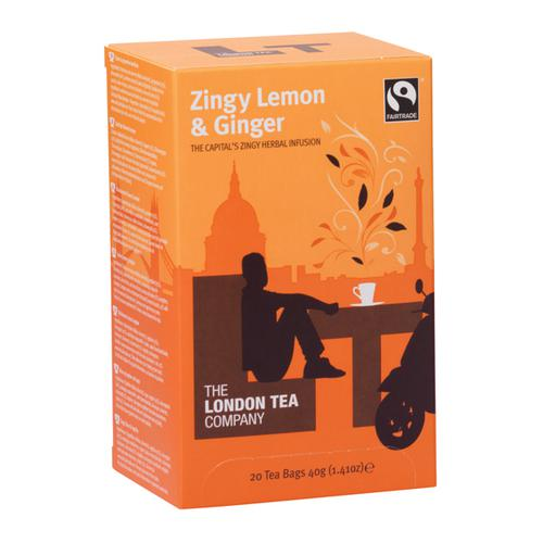 London Tea Zingy Lemon and Ginger Tea (Pack of 20) FLT0003