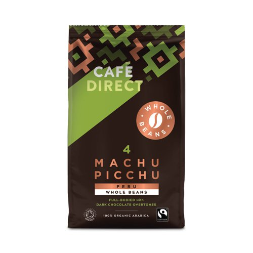 Cafedirect Machu Picchu Whole Coffee Beans 750g FCR0048