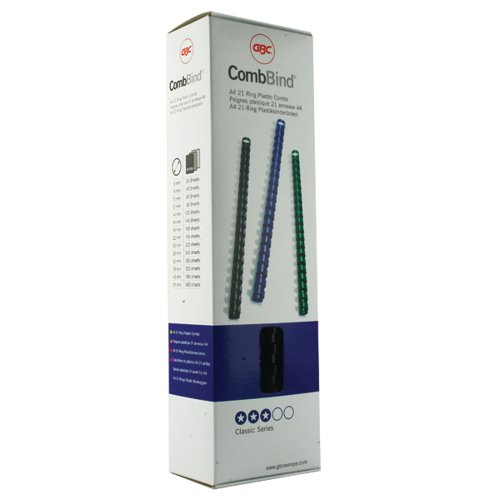 GBC CombBind Binding Combs 8mm Black (Pack of 100) 4028174
