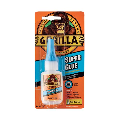 Gorilla Super Glue 15g (Bonds wood paper metal ceramic rubber and more) 4044201
