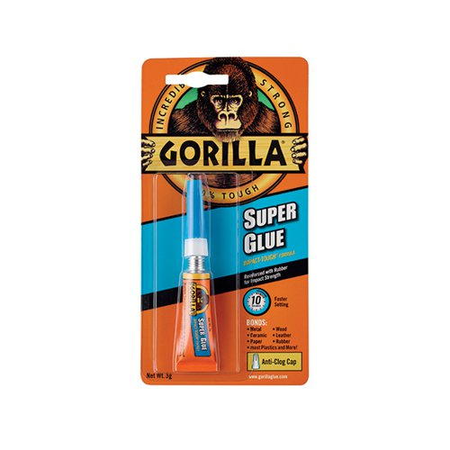 Gorilla Super Glue Waterproof 3g Tube 4044301