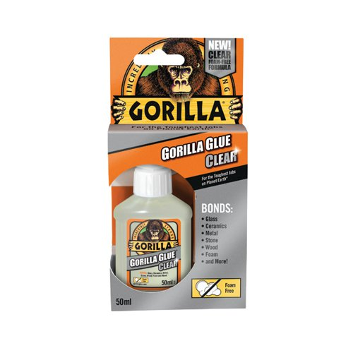 Gorilla Glue 50ml Clear (Bonds stone, wood, metal, glass, ceramics and more) 1244002