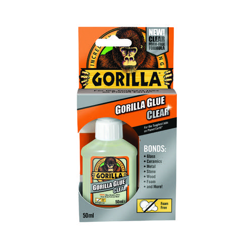 Gorilla Glue 50ml Clear (Bonds stone wood metal glass ceramics and more) 1244002